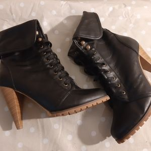 BOGO NWOT Laced up booties -ankle boots heels